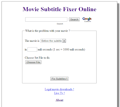 How to fix subtitle, if it is before or after the movie video?