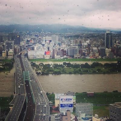 台風で淀川氾濫