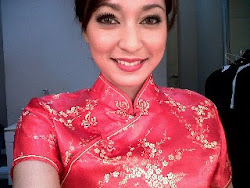Cantiknya Bella Fawzi, Siaran di Global TV dengan Cheongsam, May 2011