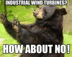 No turbines on our ridgelines!
