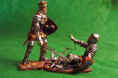 Figurino Henry V uccide John Duca di Alencon