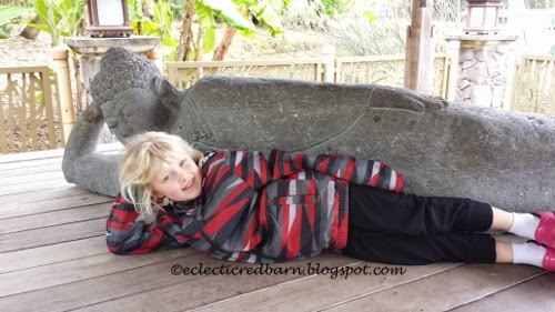 Eclectic Red Barn: Ellery posing