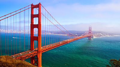 Golden Gate Bridge | suspension bridge | San Francisco Bay | Pacific Ocean