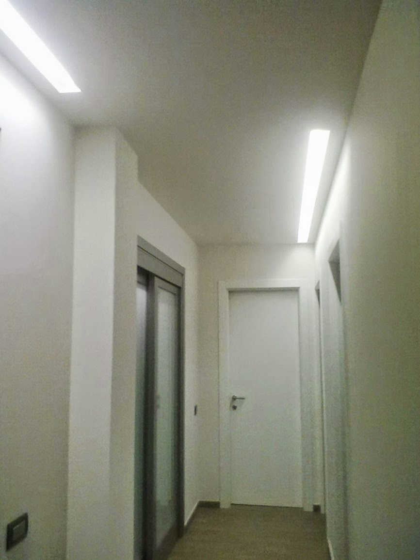 Illuminazione Led casa: Spoke: Faretti e Barre LED con incassi in gesso