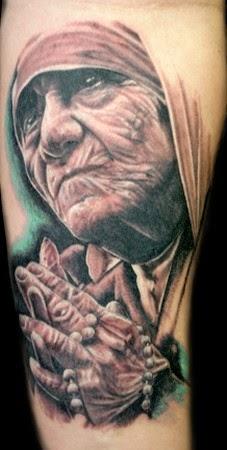 Tatuaje Madre Teresa de Calcuta