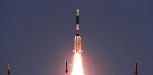 GSLV-D6 take off. Credit: ISRO