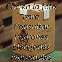 Elecciones Nacionales 2011 Padrones