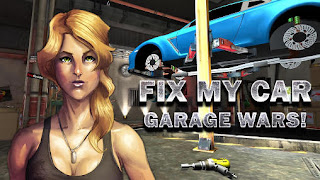 Screenshots of the Fix my car Garage wars! for Android tablet, phone.