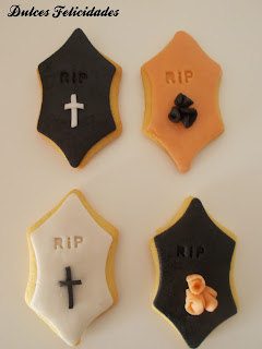 Galletas tumbas halloween fondant