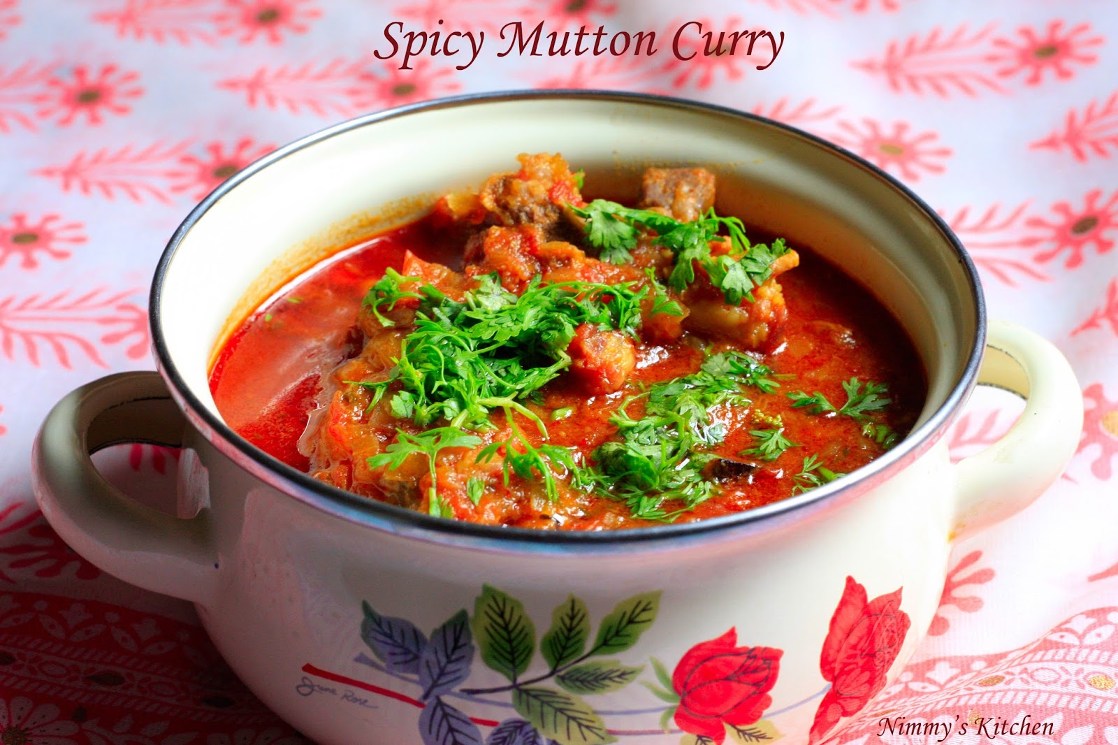 Nimmy's Kitchen: Spicy Mutton Curry