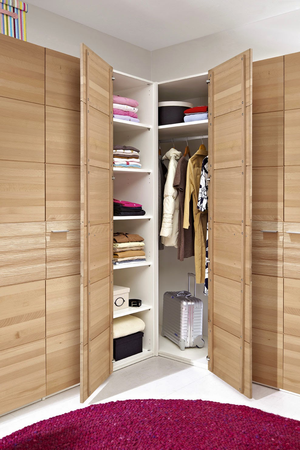 The corner wardrobe your spacious solution for the for Wardrobe ideas for small rooms