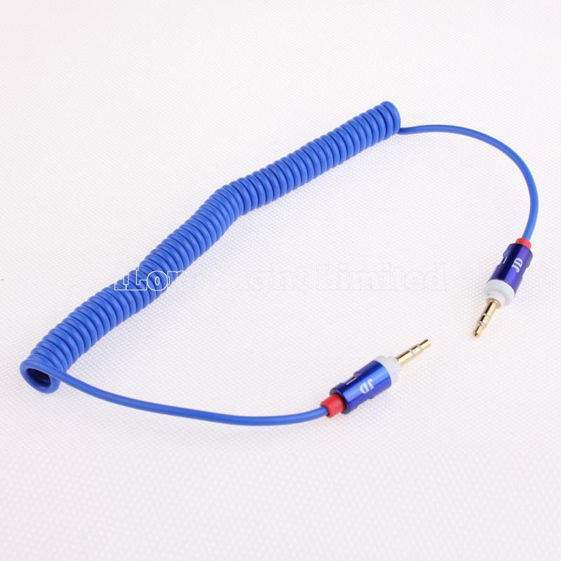 Gold mm Retractable Cable Aux Line in Jack Audio Car: Amazon
