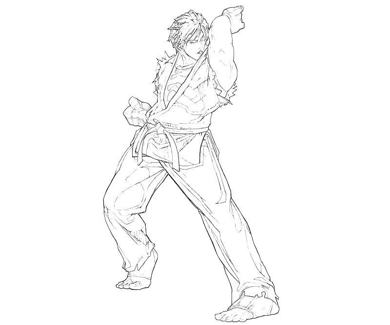 printable-king-of-fighters-ryo-sakazaki-best-coloring-pages