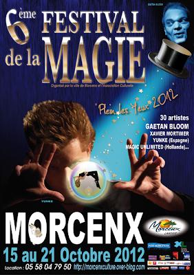 Festival de la Magie à Morcenx du 15 au 21 octobre 2012