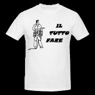 T-shirt Bianca da Uomo, Il Tutto Fare, taglio classico, 100% cotone, marca: B&C