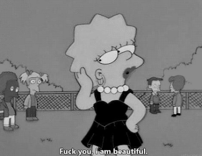 statement quote, simpsons, lisa simpson. I´m Beautiful