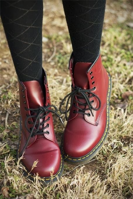Bordeaux, Adorable and Stylish Classic Boots with Black Striped Panty Stockings