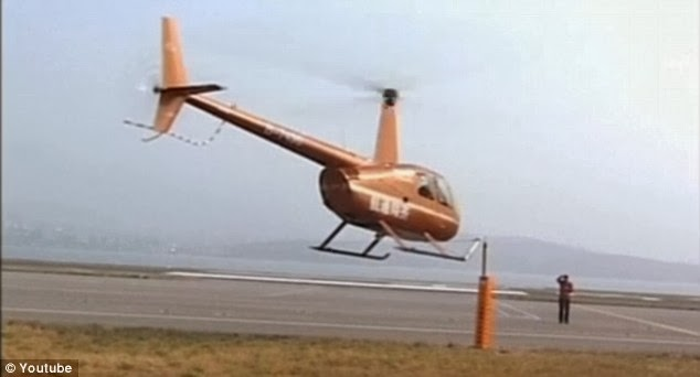 Chinese  Pilot Uses Helicopter As Beer Bottle Opener