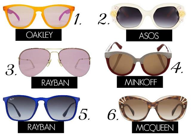 Summer Sunglasses Wishlist