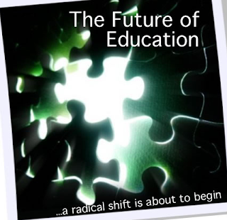 education and puzzle pieces illuminated