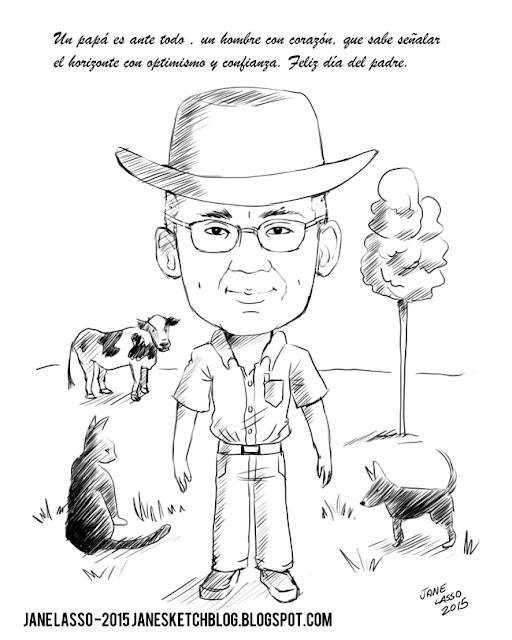 Caricatura para el día del padre
