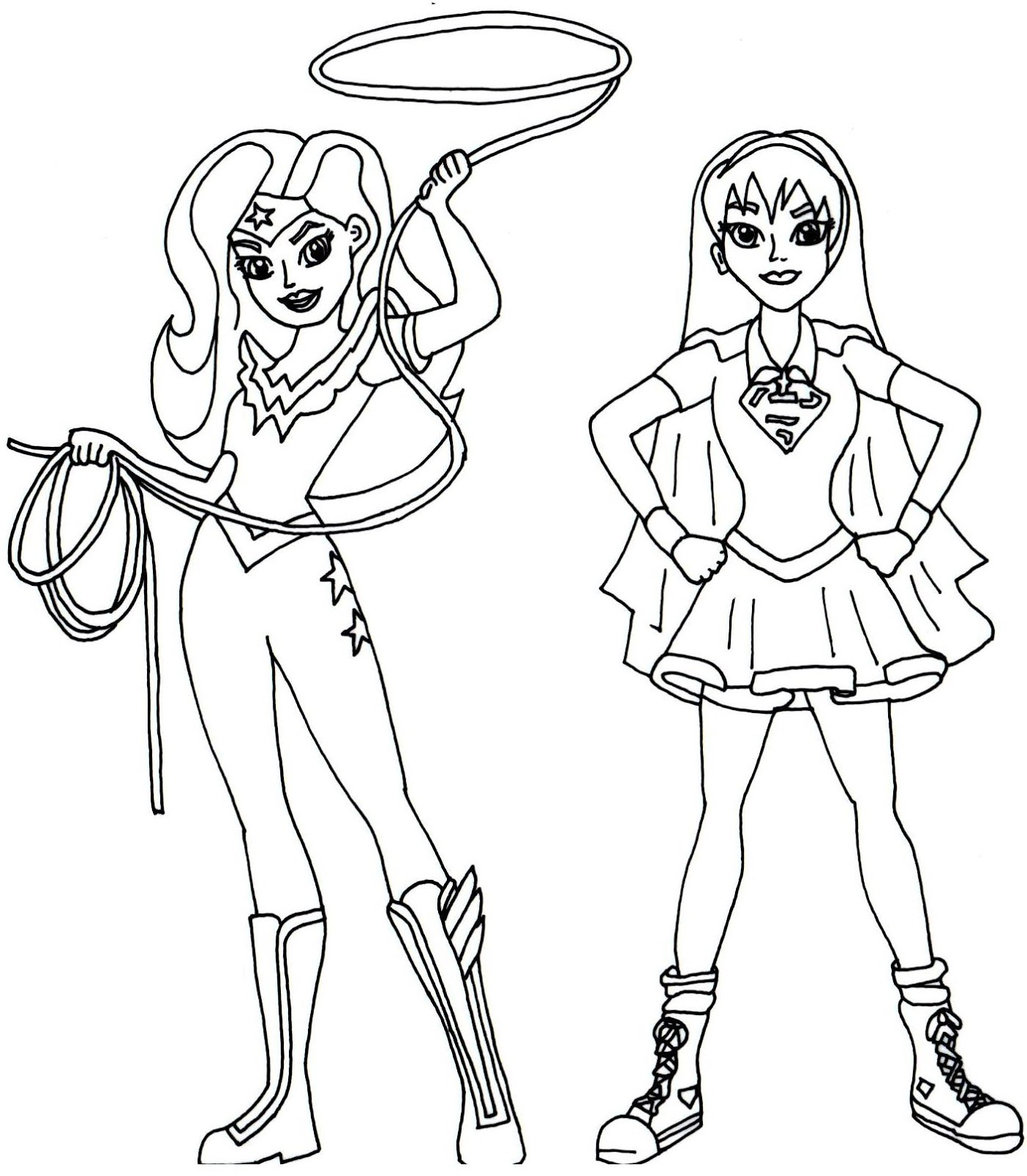 Wonder Girl Coloring Pages Coloring Pages