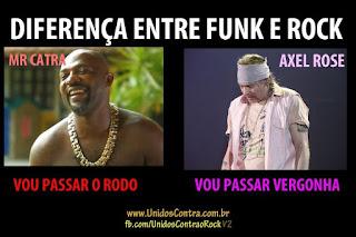 diferença entre funk e rock - mr. catra (vou passar o rodo) e axel rose (vou passar vergonha)