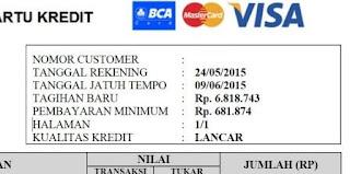 Tagihan kartu kredit