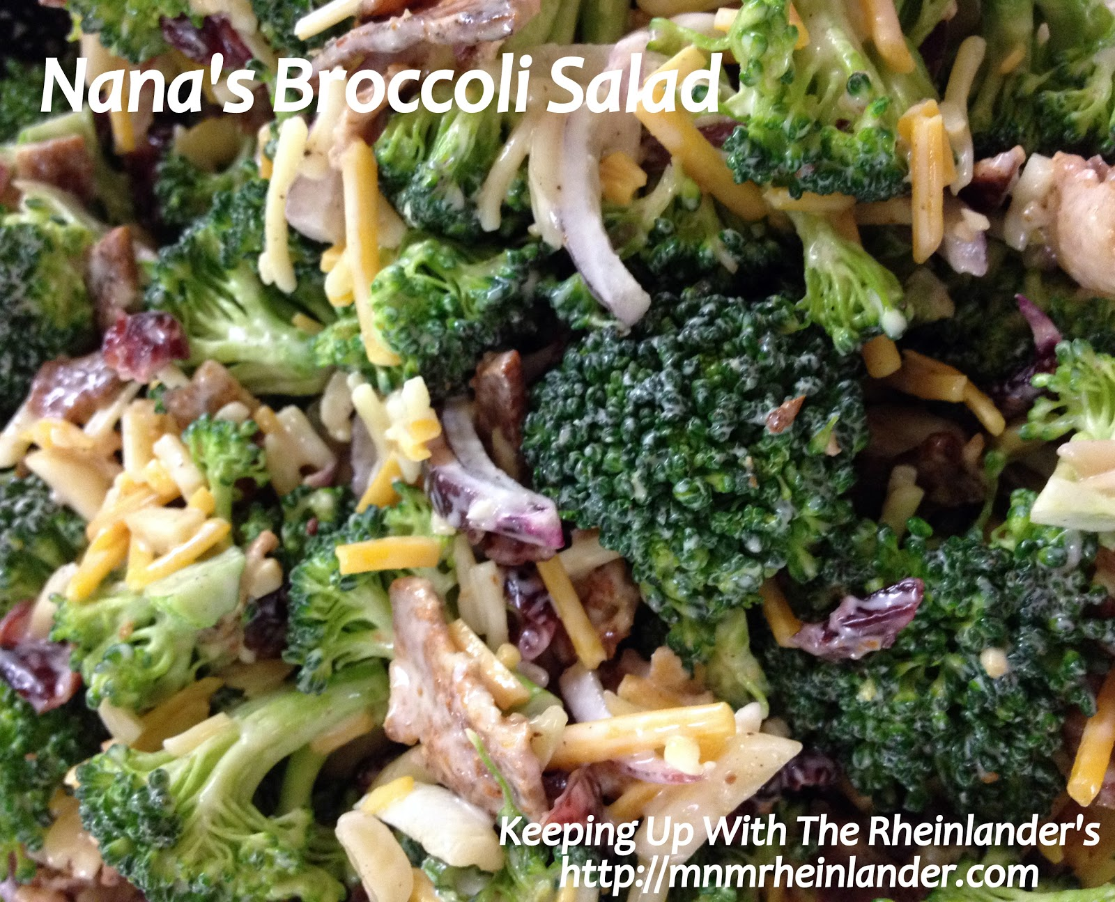Quick & Easy #Recipe: Nana's Broccoli Salad ~ Great for # ...