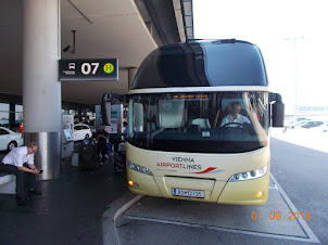 """Arrival at Vienna Airport from Mumbai by Turkish Airlines.Bus N0 7 from airport to """"WESTBAHNHOFF"""""""