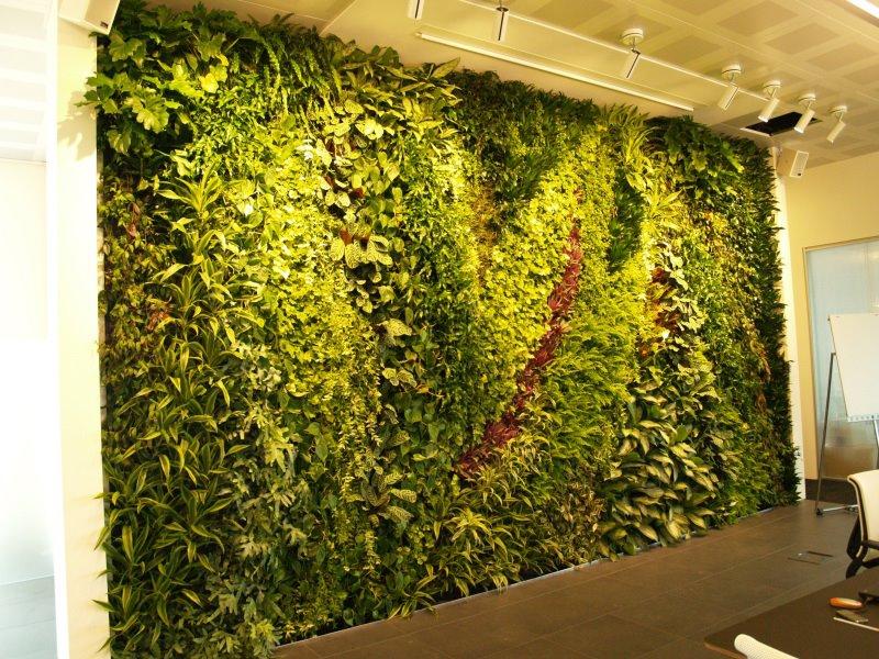 Jardim vertical harmonioso que enfeita a parede e deixa o espaço mais