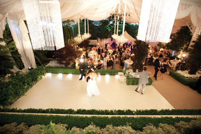 wedding dance floor tent g