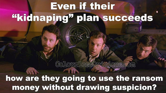Horrible Bosses 2 meme still Charlie Day Jason Sudeikis Jason Bateman