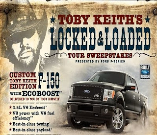Built Ford Tough Toby Keith Locked & Loaded Sweepstakes