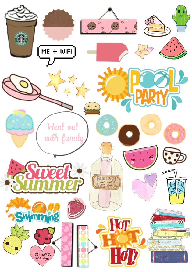 Is This Cute Af Printable Of StickersPrint Thiscut The Stickersand Stick Them To Your Calendar You Can Also Make One By Yourselfif Follow