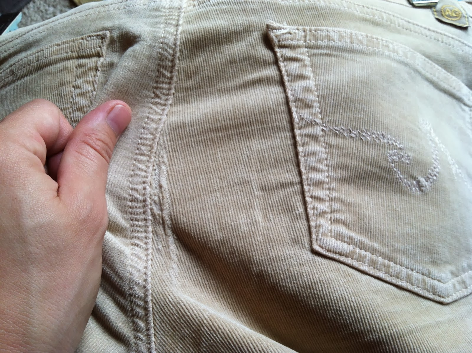 Ulterior Alterations: Elbow patches made from ripped cords