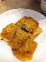 pan fried beancurd skin rolled with minced pork and shrimp 鲜虾腐肉卷