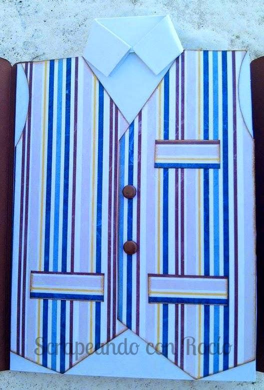 Tarjeta con forma de camisa