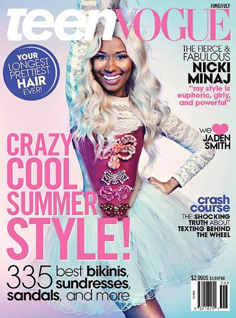 Nicki Minaj  the covers June July Teen Vogue magazine 9aijahouse