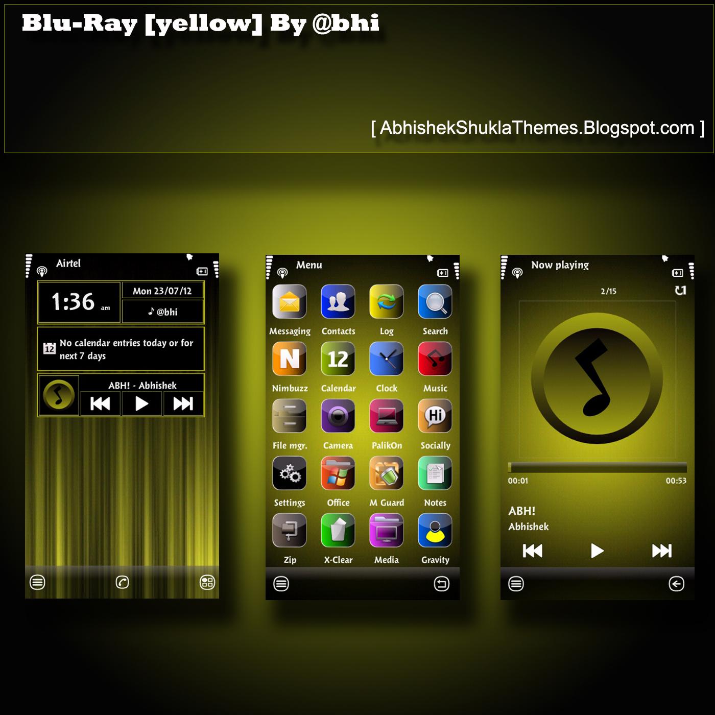 Blu-Ray [Yellow] By @bhi   @bhi [Abhishek Shukla]