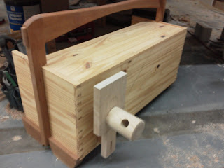 woodworking bench vise installation