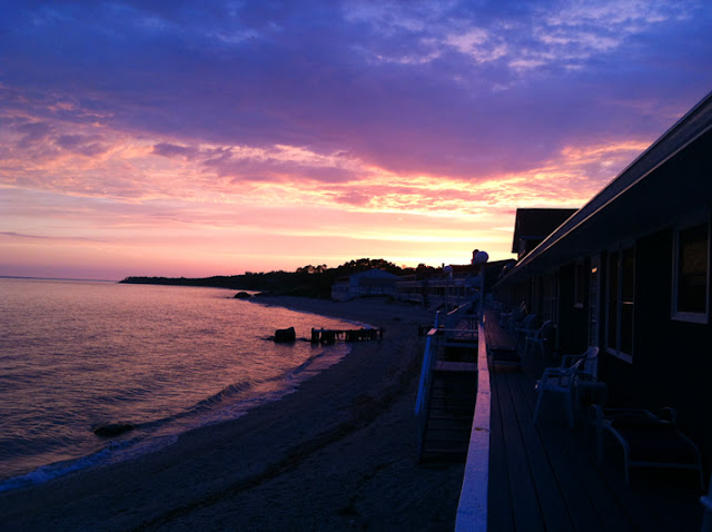 Sunrise at Soundview Inn, Greenport, NY (North Fork of Long Island Sound)