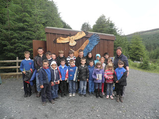 Dervaig school children visit Mull Eagle Watch