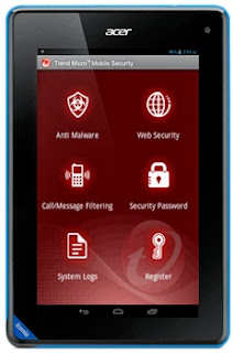 Acer Iconia Tab B1 dengan Trend Micro Mobile Security