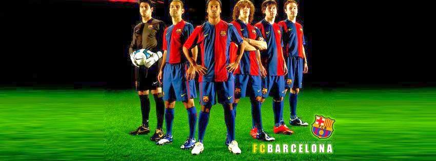 Couverture facebook d'équipe barcelone