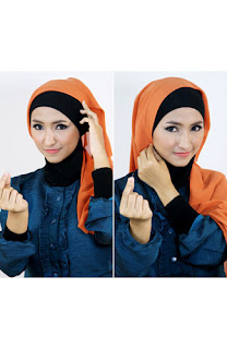 Tutorial hijab kombinasi unik 2 Tutorial Hijab Kombinasi Unik Untuk ke Pesta