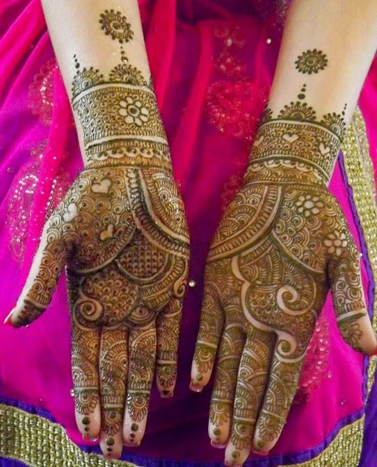 Indian Bridal Mehndi Designs for Full Hand