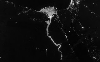 Night View Nile River