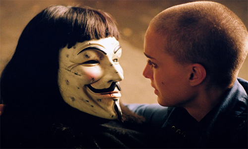 What represents fascism is the movie V for Vendetta?