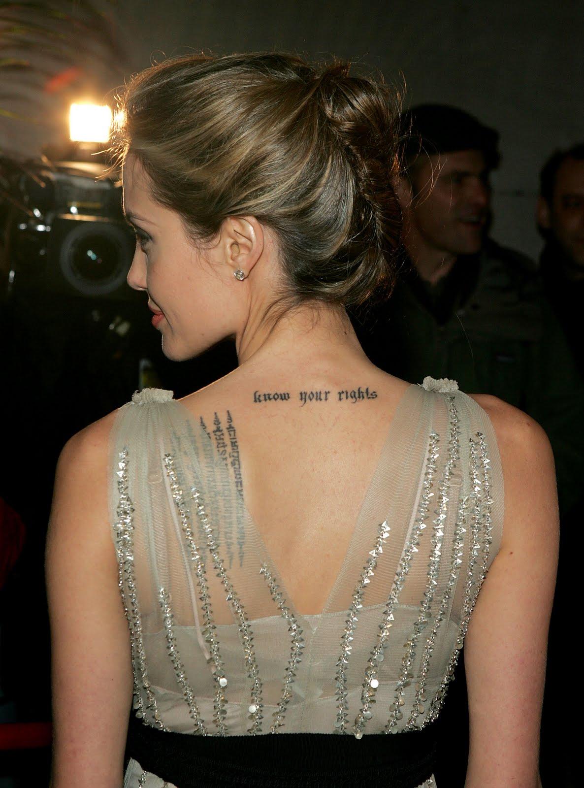 Bloodybridge Back Neck Tattoos Designs For Girls